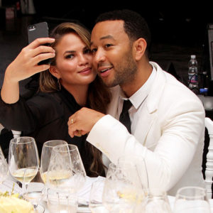 Chrissy Teigen, John Legend, and Baby Luna just had a family day at a baseball game