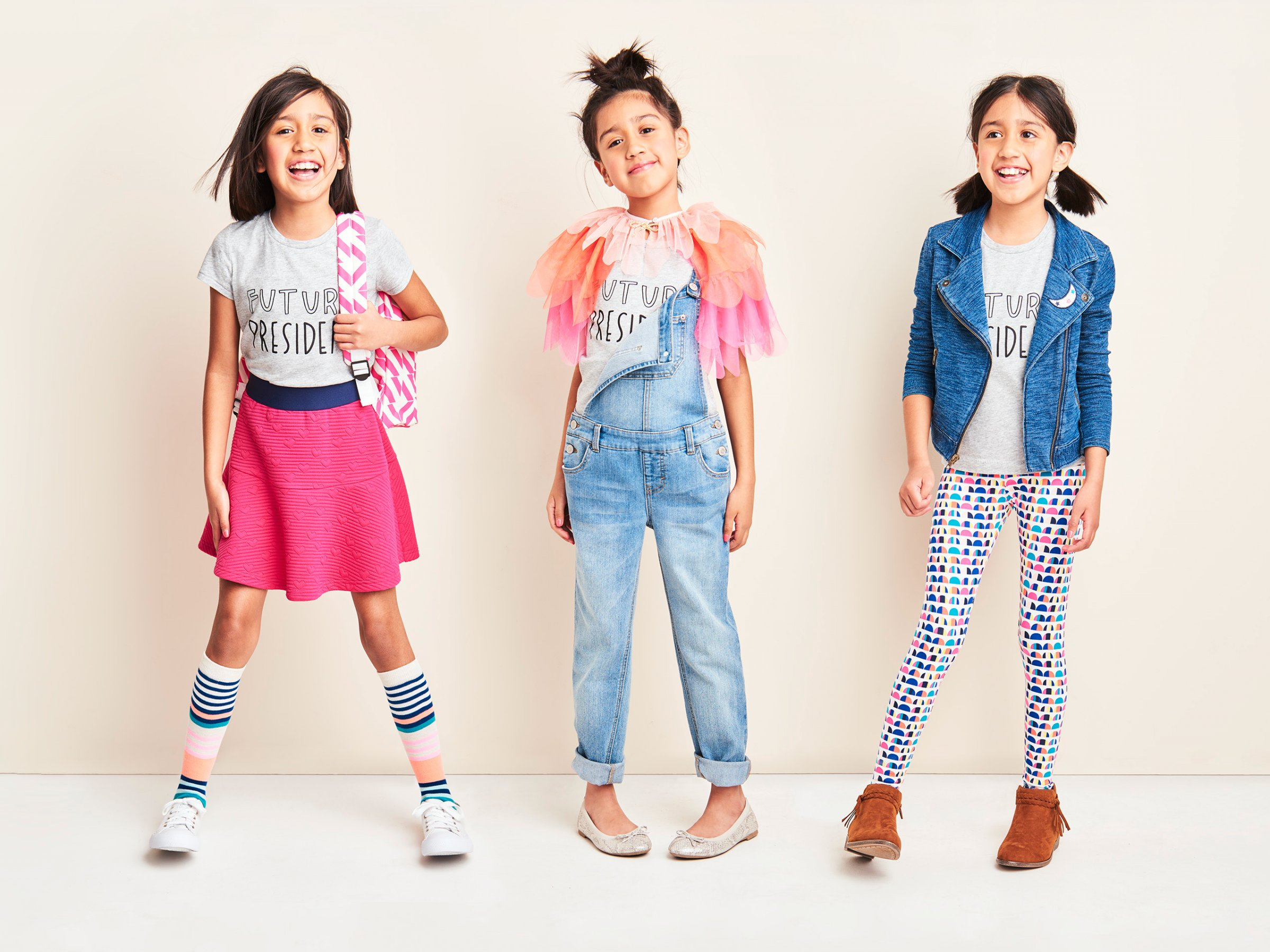 We also carry a full line of fashionable kids accessories to compliment our online kids clothing. Whatever you're looking for in kid's clothes online, Little Trendsetter will definitely have a style that will satisfy your sense of dress completely.