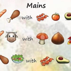 Would you order from this restaurant's emoji menu?