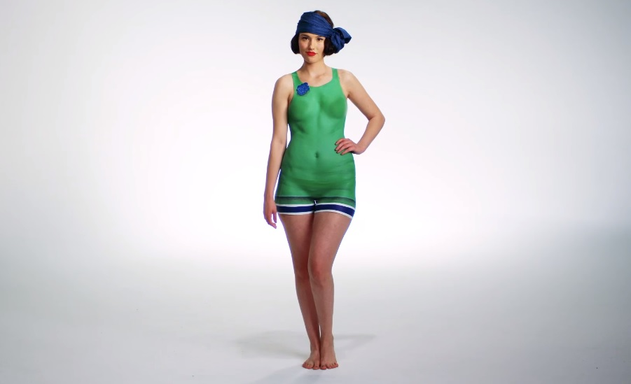 This woman just recreated 100 years of bathing suits using ...