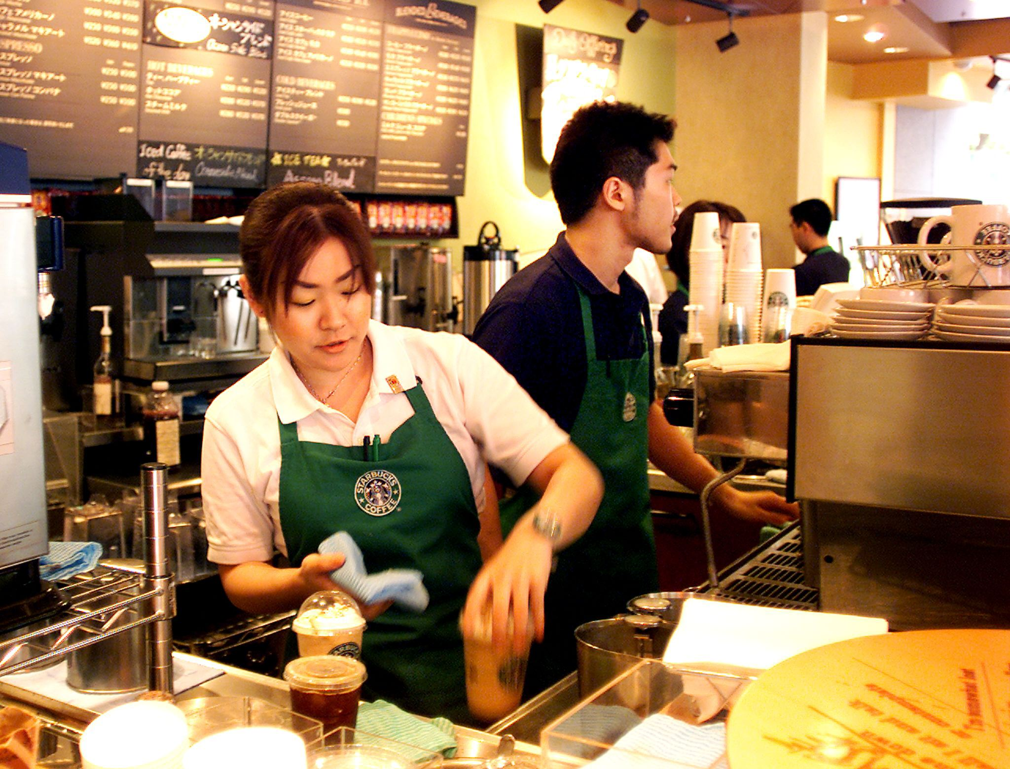 What do the Starbucks apron colors mean