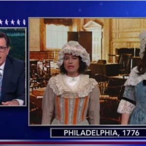 "Abbi and Ilana from ""Broad City""  are HILARIOUS as women from 1776 reacting to Hillary Clinton"