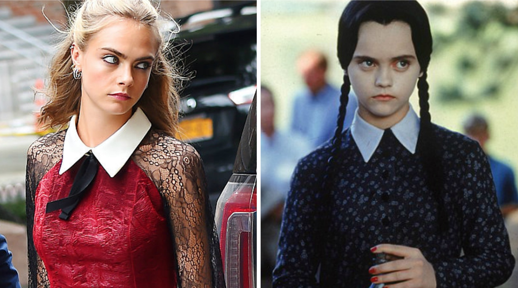 Cara Delevingne Looks Like A Modern Day Wednesday Addams