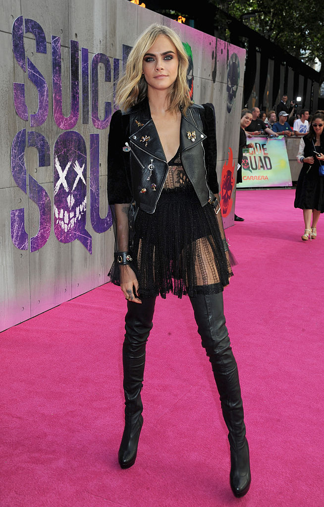 cara delevingne looked like the most badass biker chick at