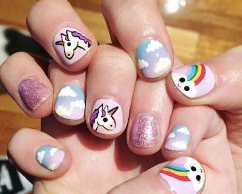 These unicorn manicures are everything we need right now - These Unicorn Manicures Are Everything We Need Right Now - HelloGiggles