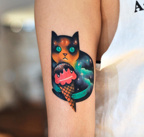These tattoos are so dreamy and weird and we kinda want to cover ourselves in them