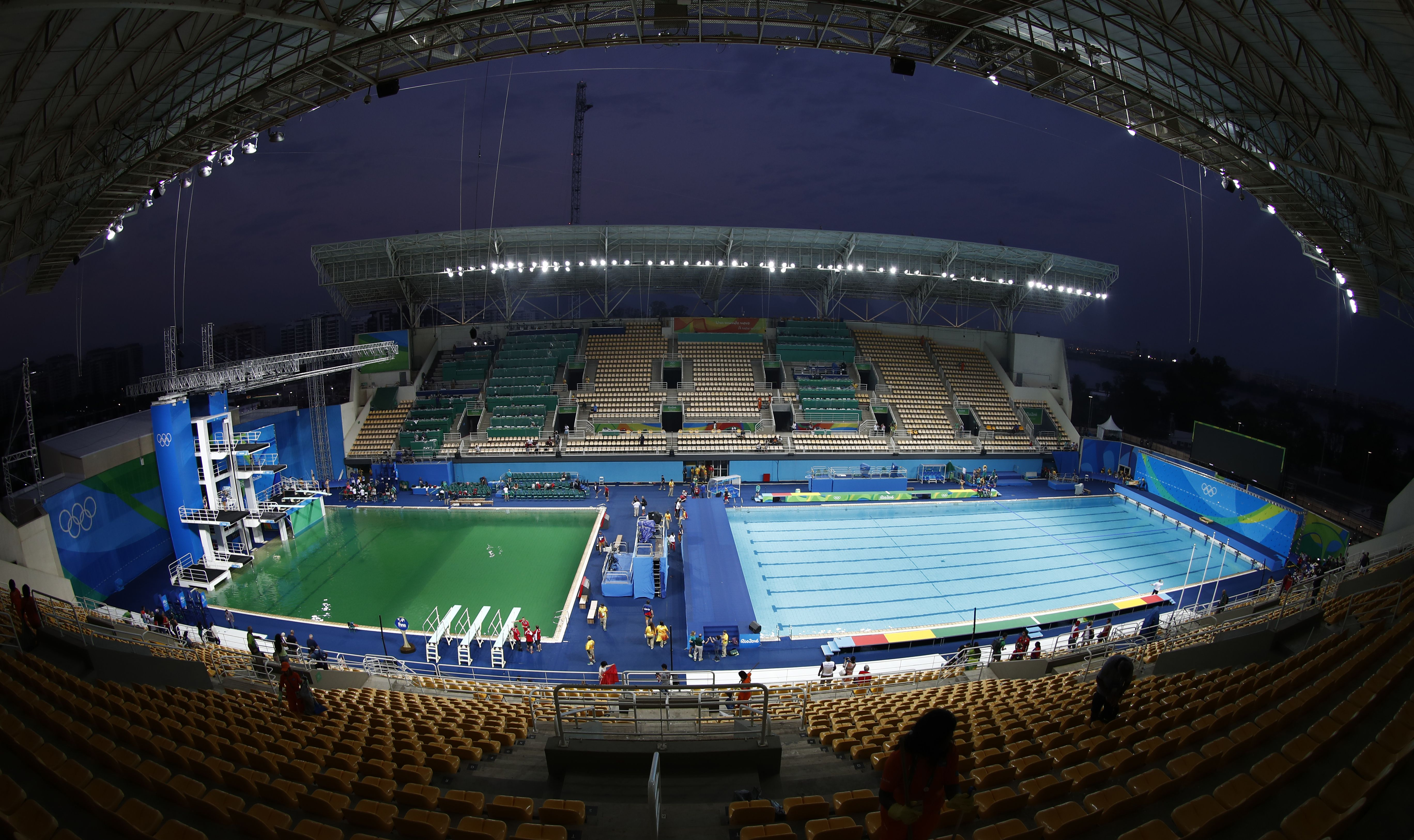 The Real Reason The Olympic Pool Is Green Is Actually Really Dangerous