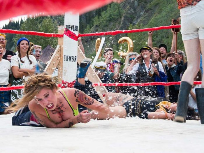 Only in DCLOLW would you see a wrestling move that includes an exploding chicken