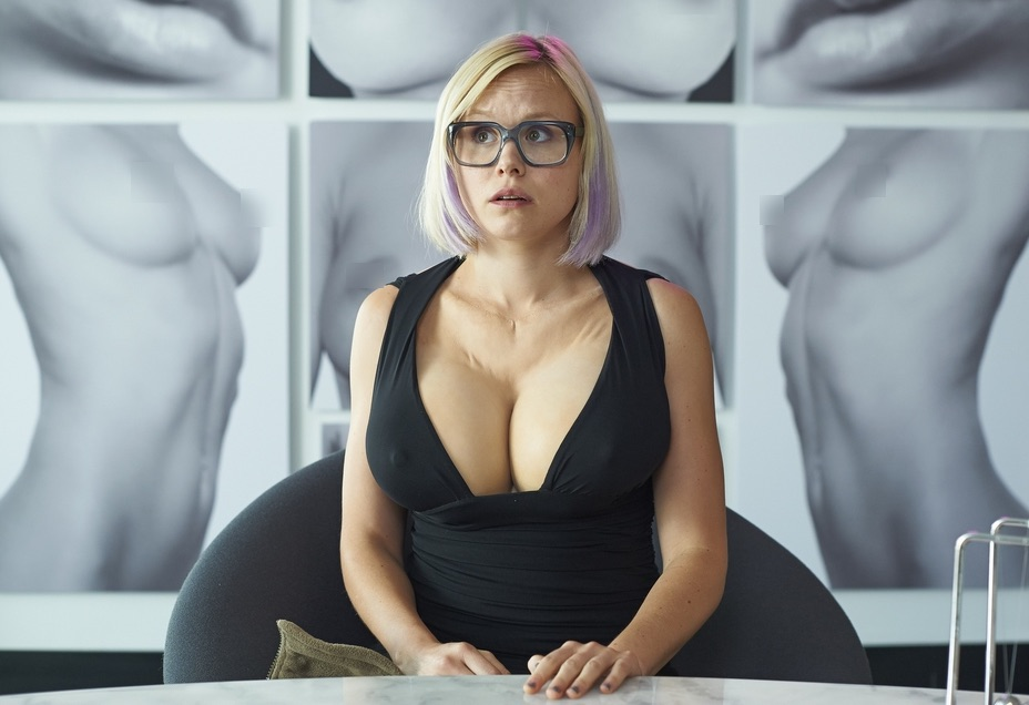 Alison Pill talks about her prosthetic boobs for a movie