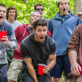 """Nick Jonas KILLS it as a frat bro in the trailer for his new movie """"Goat"""""""
