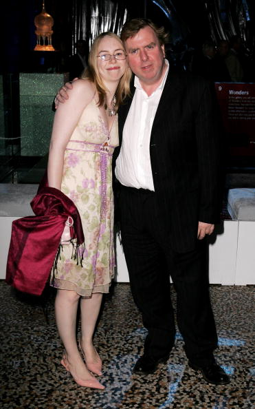 LONDON - NOVEMBER 06: Actor Timothy Spall and his daughter Mercedes attend the party for the World Premiere of  Harry Potter And The Goblet Of Fire  at The Natural History Museum on November 6, 2005 in London, England. The film is based on the fourth installment of author J. K. Rowling's novel series. (Photo by Dave Hogan/Getty Images)