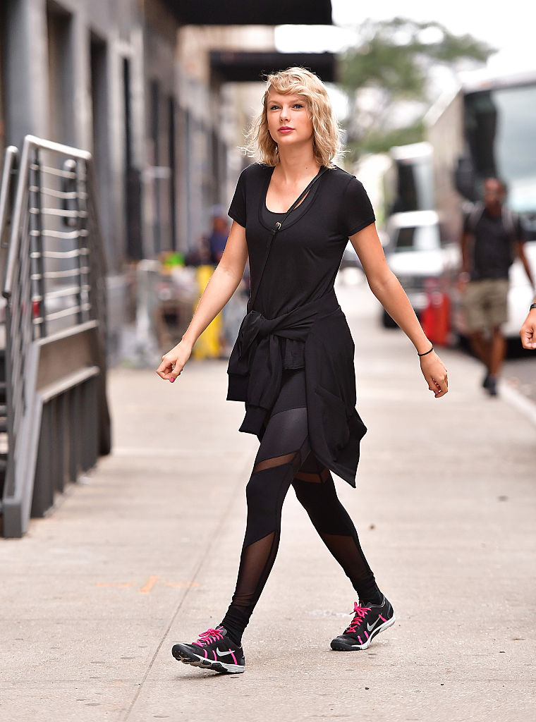 Taylor Swift just wore sheer workout leggings to the gym