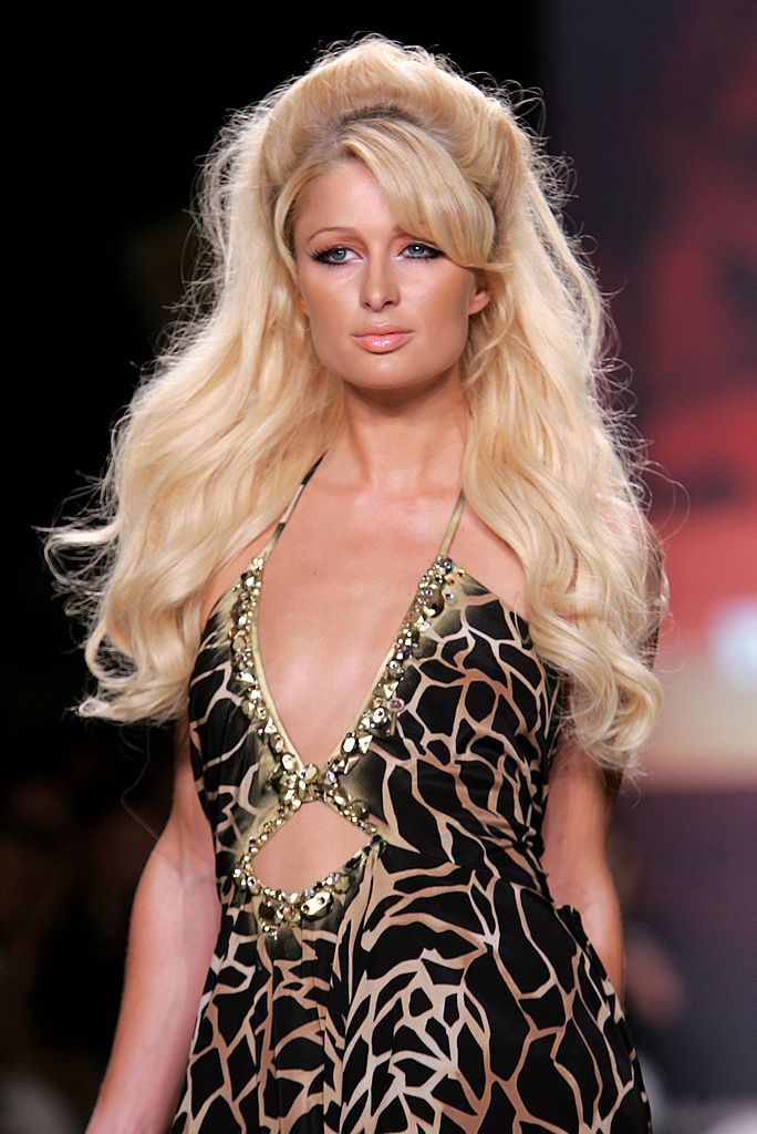 NEW YORK - SEPTEMBER 12:  Paris Hilton walks the runway at the Heatherette Spring 2007 fashion show during Olympus Fashion Week at the Tent in Bryant Park  September 12, 2006 in New York City.  (Photo by Bryan Bedder/Getty Images for IMG)