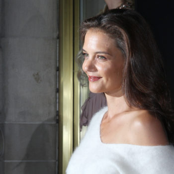 Katie Holmes looks like she's about to join a girl band in this retro getup