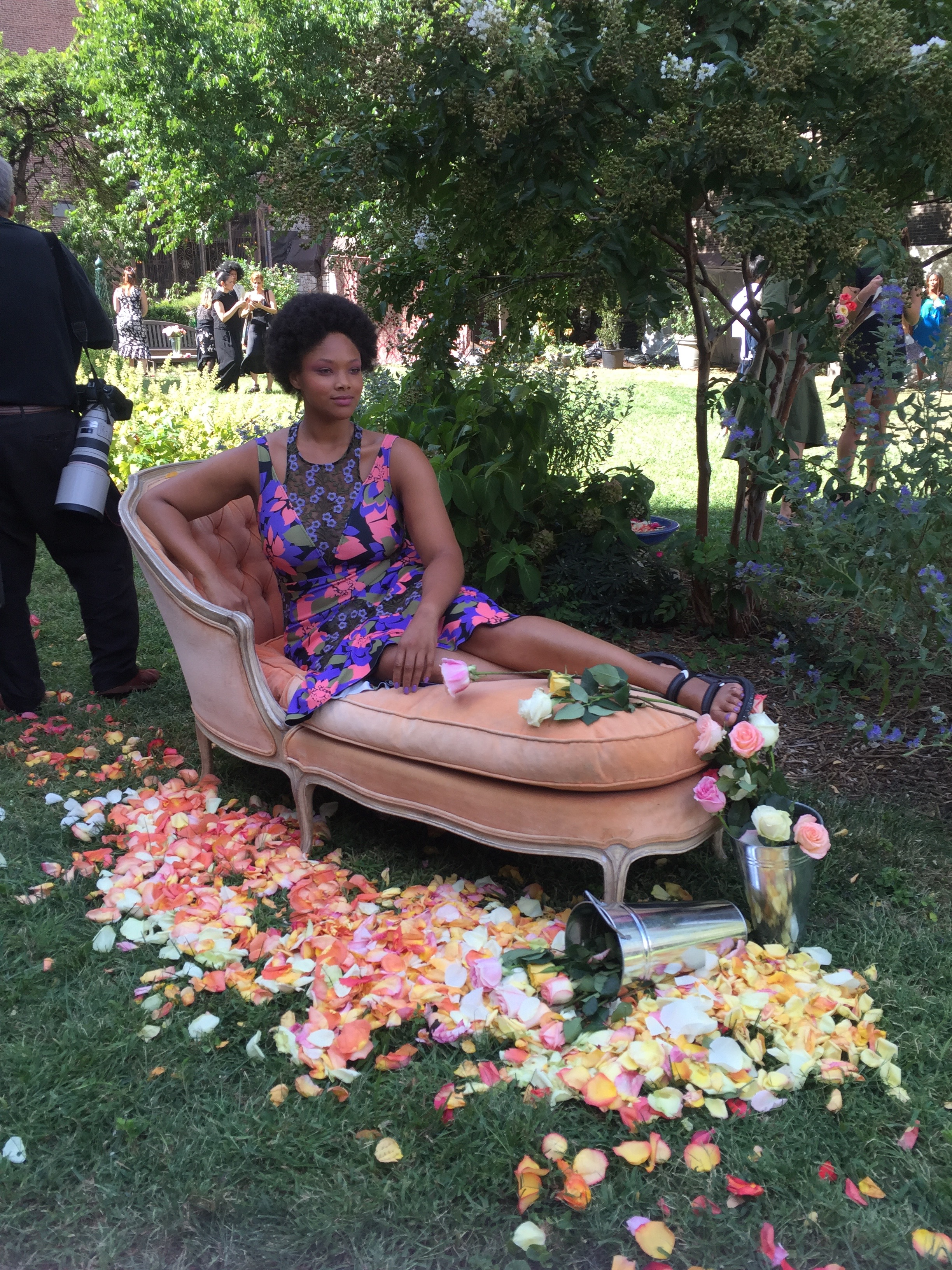 Picture of Tracy Reese NYFW Chaise