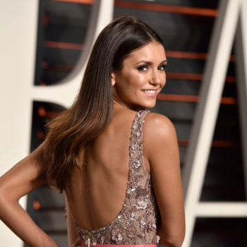 Nina Dobrev rocked a beautiful dress to NYFW, and she totally looked like our fave emoji