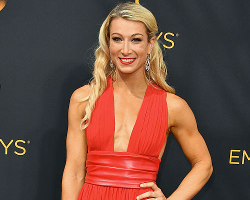 """American Ninja Warrior"" star Jessie Graff just did *literal* high kicks at the Emmys and we can't believe our eyes"