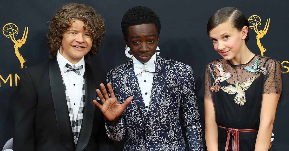 "The kids from ""Stranger Things"" performed ""Uptown Funk"" at the Emmys and it's adorable"