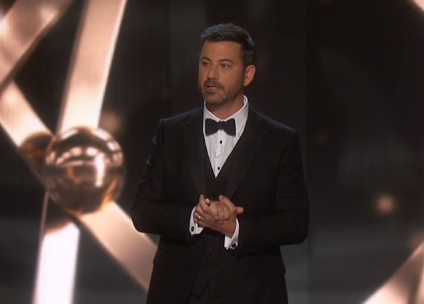 This pic of Jimmy Kimmel working on his Emmy jokes with his daughter is too adorable to fathom