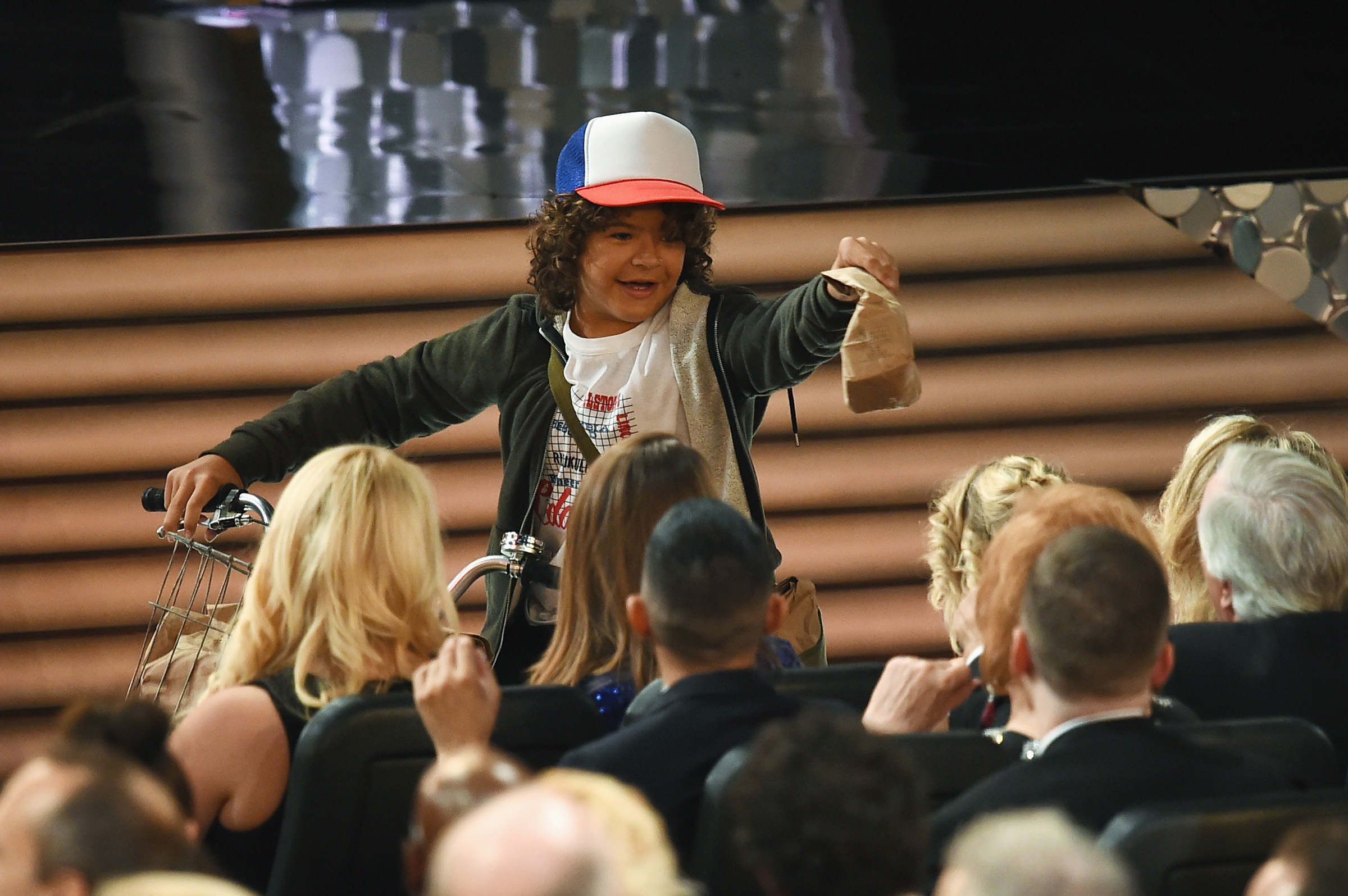 "The ""Stranger Things"" kids delivered PB+J sandwiches at the Emmys in full costume, and what a time to be alive"
