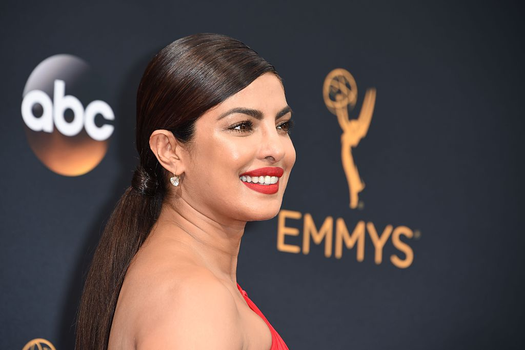 Priyanka Chopra had the most fun on the red carpet in her stunning red Emmys gown