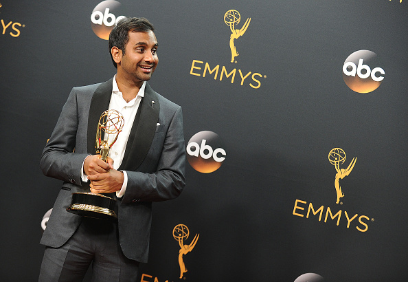 Aziz Ansari celebrated his Emmy win with the mother of his late comedy collaborator, Harris Wittels