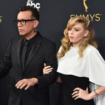 Fred Armisen and Natasha Lyonne rode to the Emmys in a hearse, aka our ultimate #gothgoals
