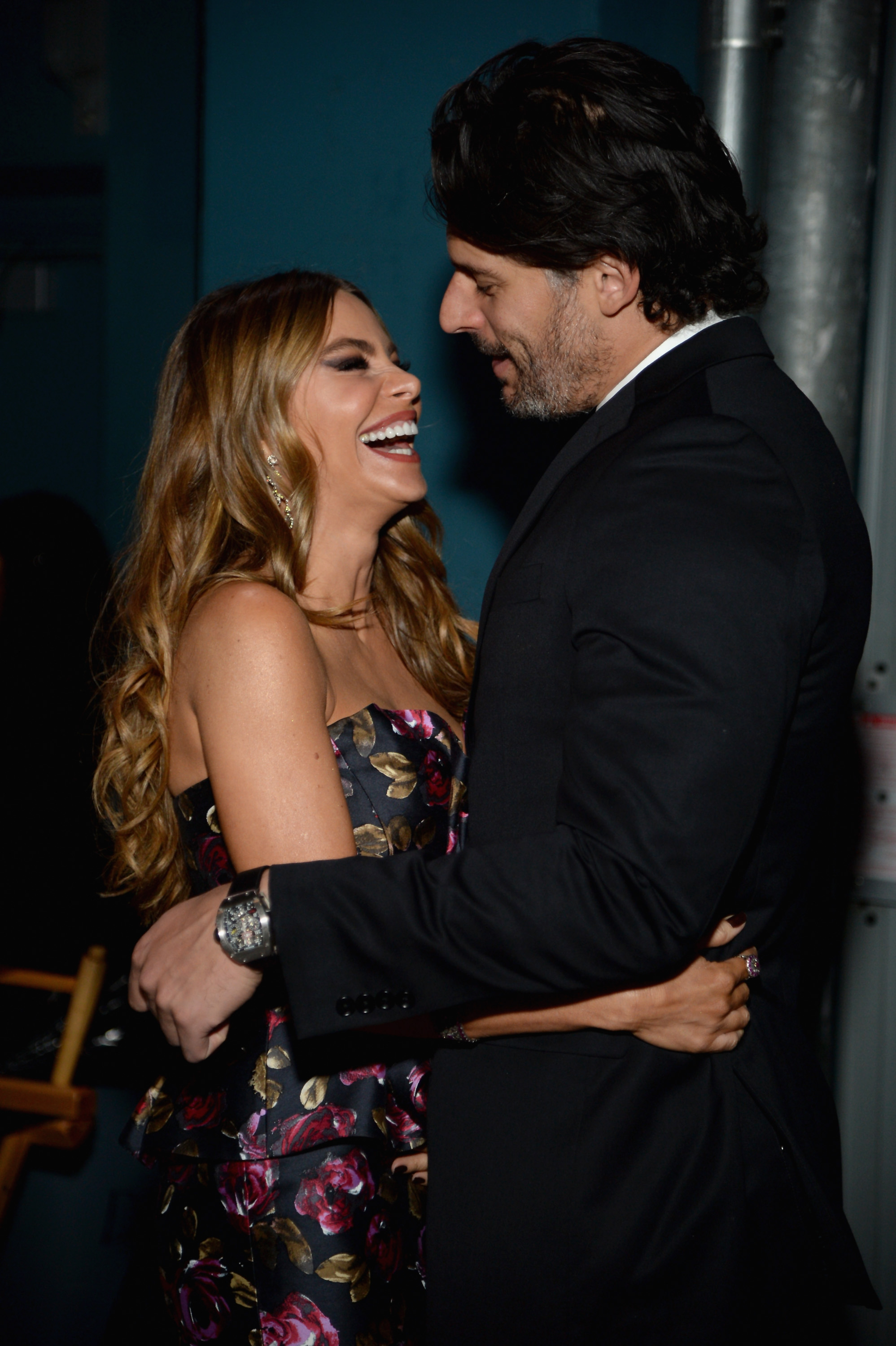 HOLLYWOOD, CA - NOVEMBER 12:  Actors Sofia Vergara (L) and Joe Manganiello attend the special tribute to Sophia Loren during the AFI FEST 2014 presented by Audi at Dolby Theatre on November 12, 2014 in Hollywood, California.  (Photo by Michael Kovac/Getty Images for AFI)