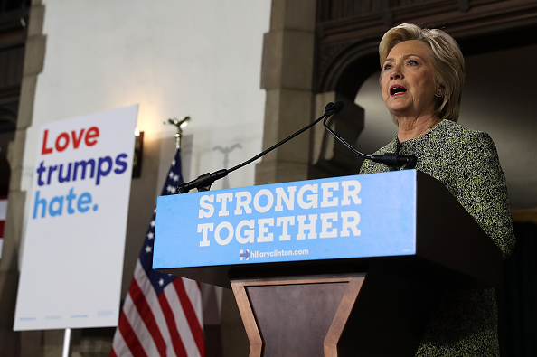 Democratic Presidential Nominee Hillary Clinton Campaigns In Philadelphia