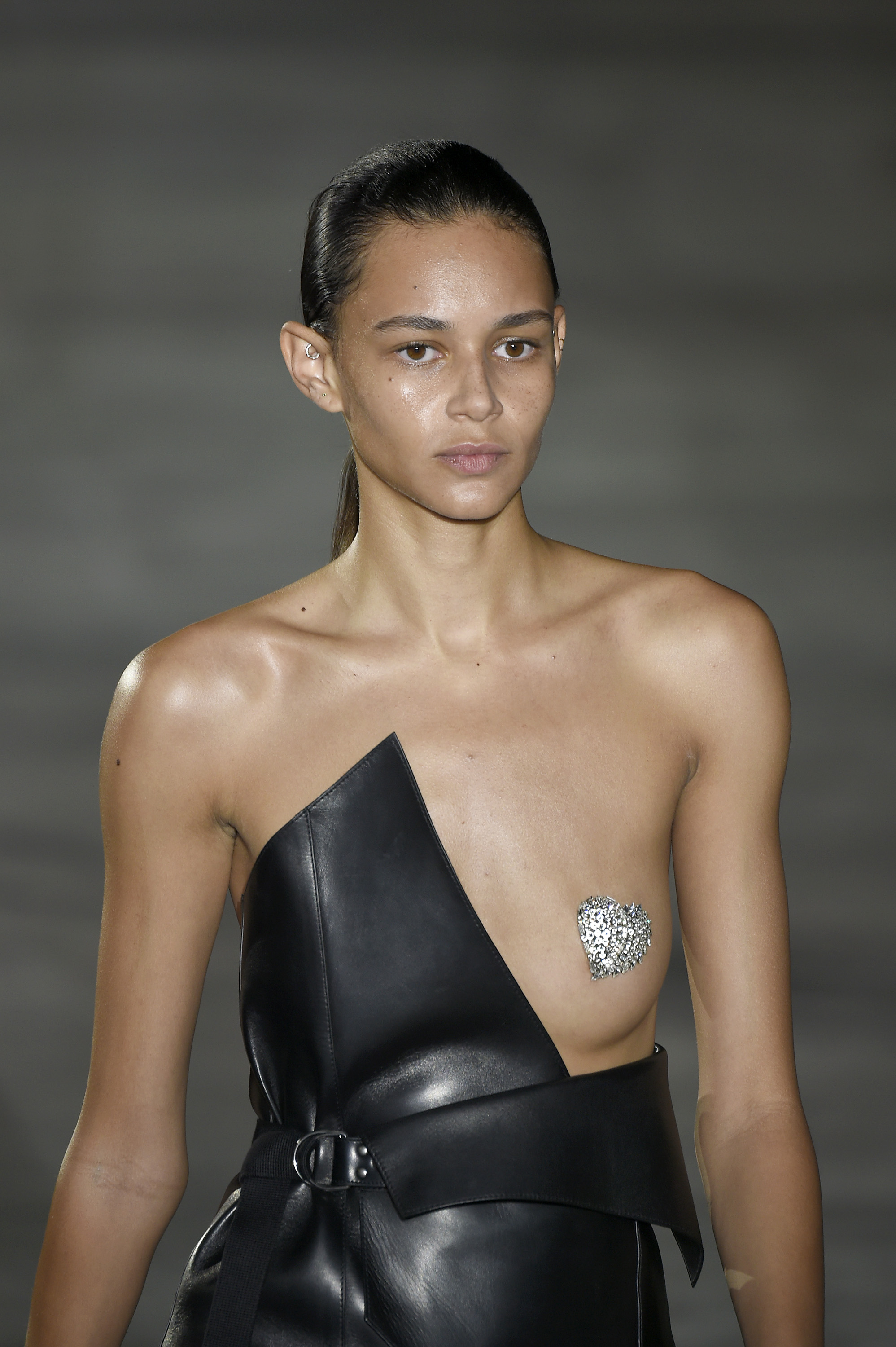 Apparently glitter nipples were a thing at Fashion Week