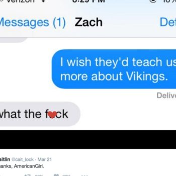 Girls can't stop texting their boos about vikings because American Girl told them to