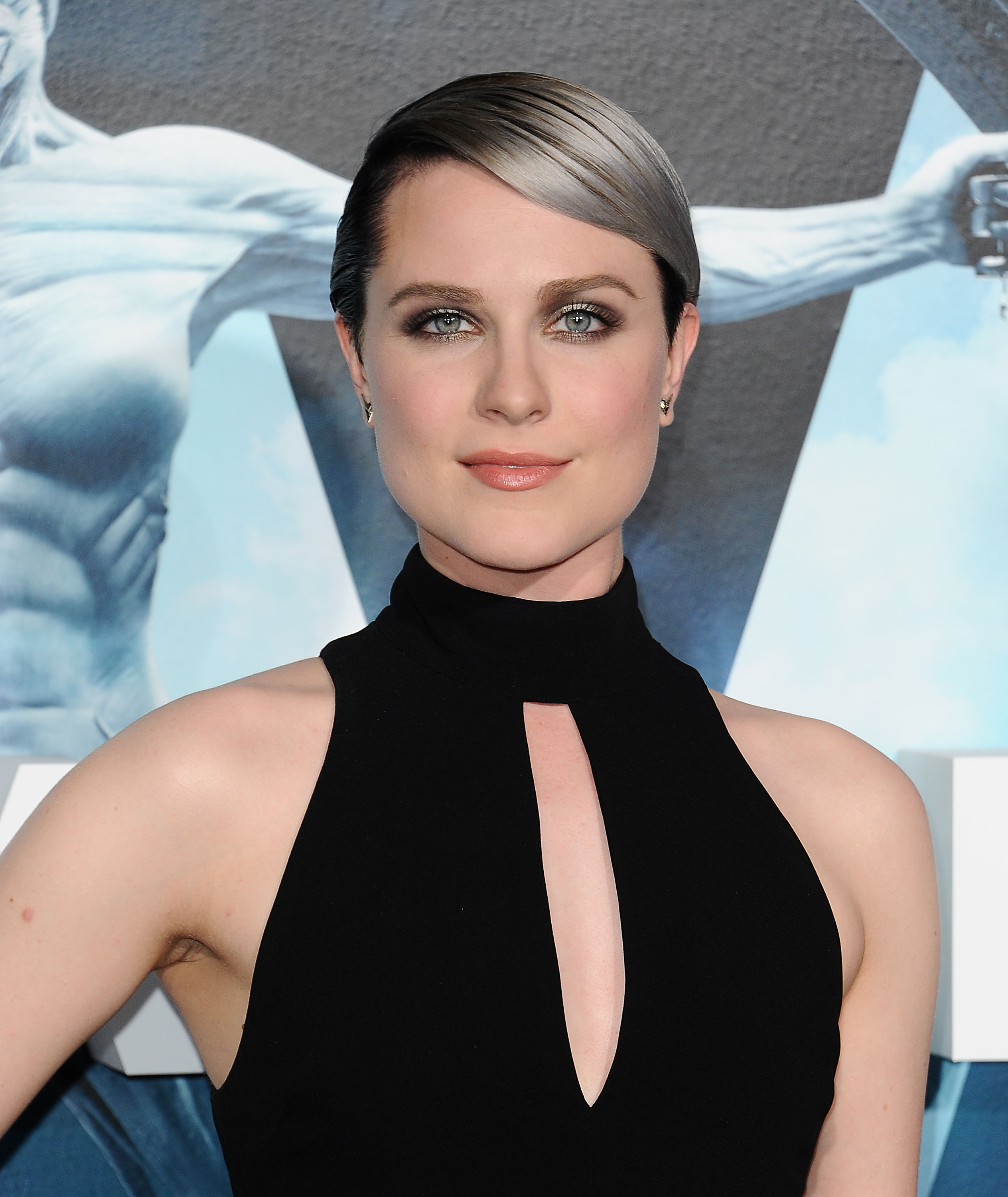 "Evan Rachel Wood's silver ombre hair at the ""Westworld ... Evan Rachel Wood"