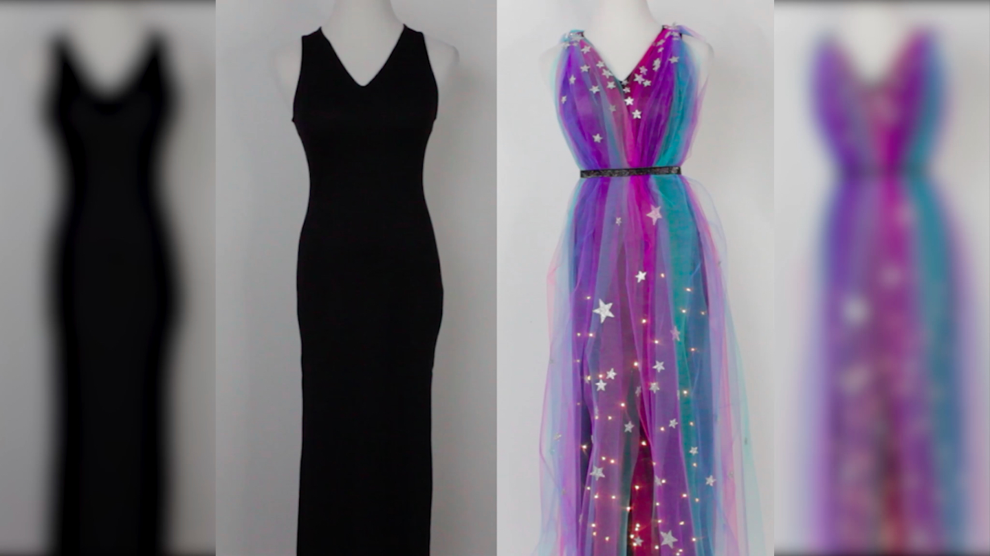 Light Up Galaxy Goddess Dress Fashion Hellogiggles
