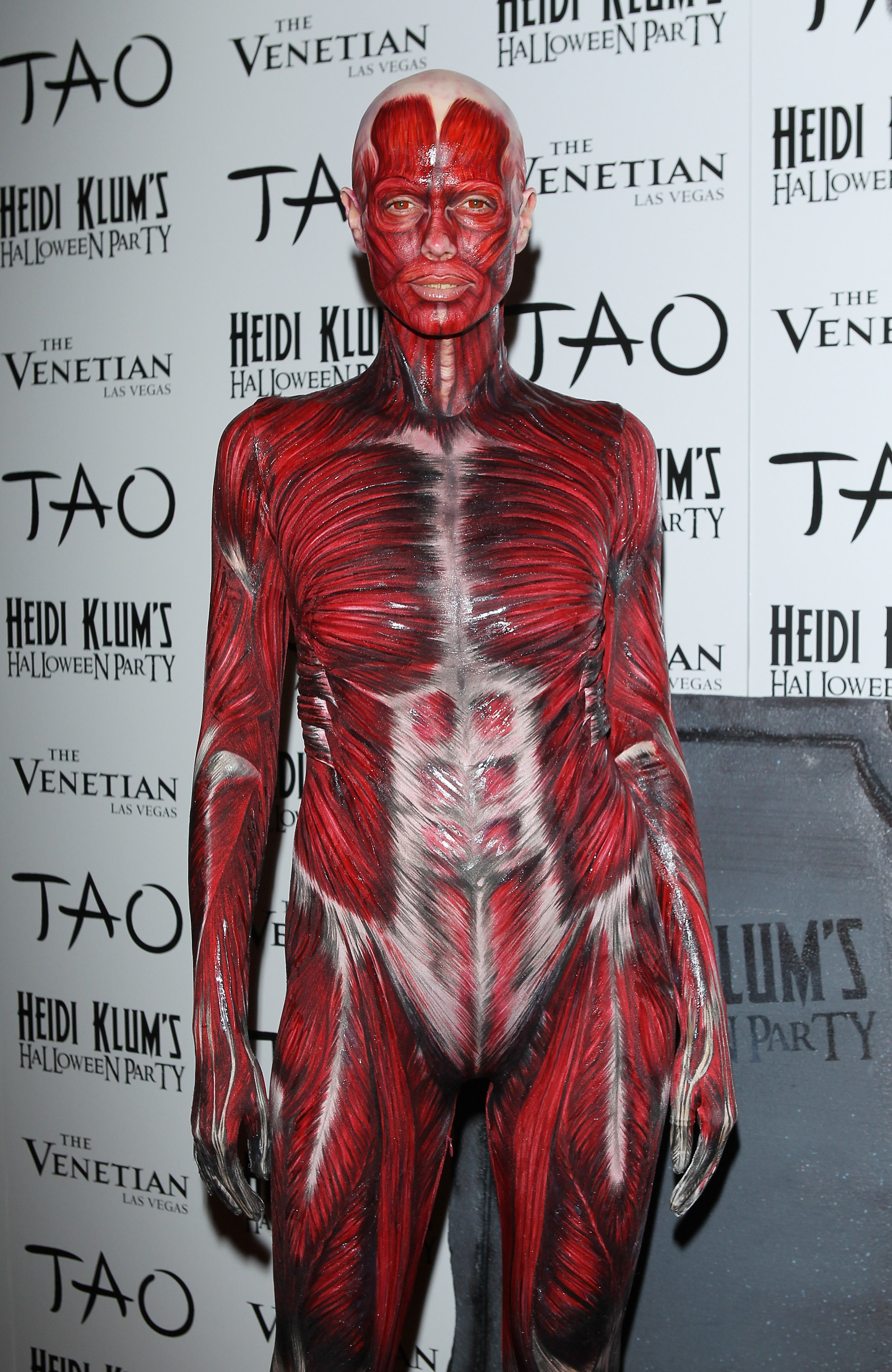 LAS VEGAS, NV - OCTOBER 29:  Heidi Klum arrives at her 12th Annual Halloween Party at TAO Nightclub at The Venetian on October 29, 2011 in Las Vegas, Nevada.  (Photo by Michael Tran/FilmMagic)