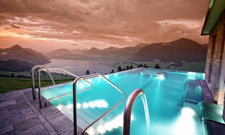 This infinity pool at a Swiss hotel has gone viral because it's absolutely breathtaking