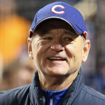 Bill Murray wore a shirt with the cutest 'Ghostbusters' reference to a baseball game
