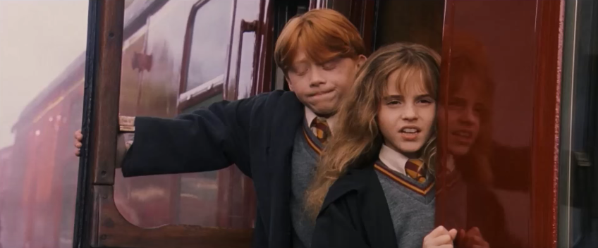 "This is why Hermione only wore fake teeth in one scene of the ""Sorcerer's Stone"""