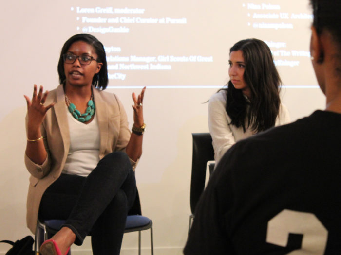 Speaking on a panel about changing careers