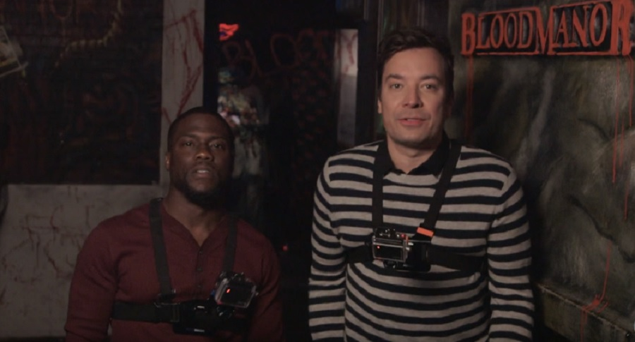 Jimmy Fallon and Kevin Hart went to a haunted house and were SO not OK