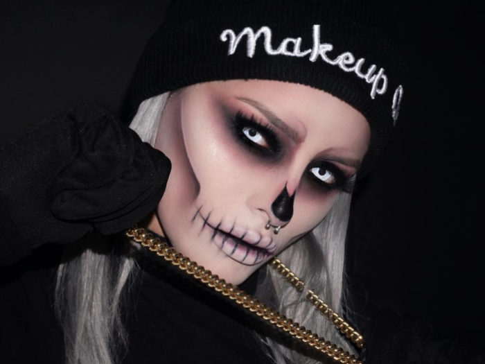 this epic skull makeup is perfect for halloween and also super affordable - Skull Faces Halloween