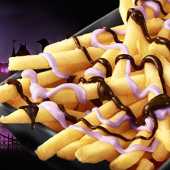 "McDonald's new ""witch"" fries are drizzled with this eerie purple sauce"