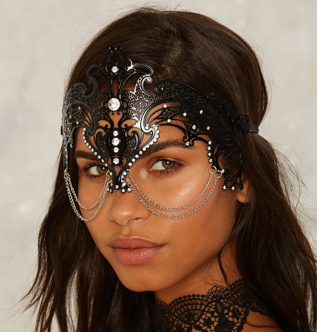 1 nasty gal archrival cutout mask - Mystical Halloween Costumes