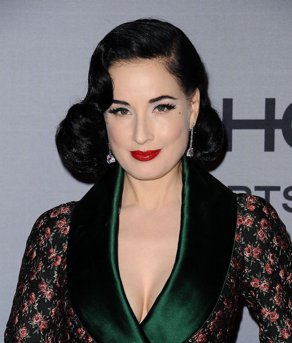 Dita Von Teese presented the first dress in the world, printed on a 3D printer 16.03.2013 100