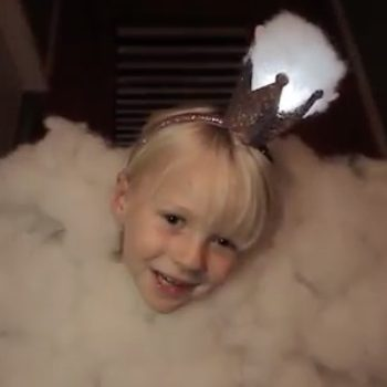This dad just turned his daughter into a giant cloud princess for Halloween — YOU HAVE TO SEE THIS