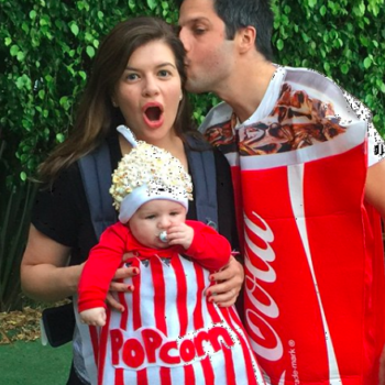 Casey Wilson dressed her son up like Donald Trump and it's literally a look-a-like