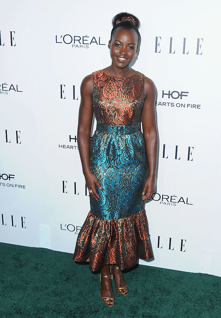 LOS ANGELES, CA - OCTOBER 24:  Actress Lupita Nyong'o arrives at the 23rd Annual ELLE Women In Hollywood Awards at Four Seasons Hotel Los Angeles at Beverly Hills on October 24, 2016 in Los Angeles, California.  (Photo by Jon Kopaloff/FilmMagic)