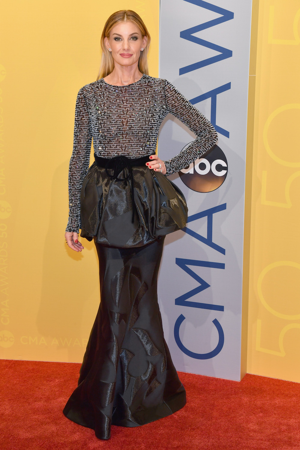 NASHVILLE, TN - NOVEMBER 02:  Singer Faith Hill attends the 50th annual CMA Awards at the Bridgestone Arena on November 2, 2016 in Nashville, Tennessee.  (Photo by Jason Davis/FilmMagic)