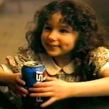 The little girl from those '90s Pepsi commercials has a famous brother, and you won't believe who it is