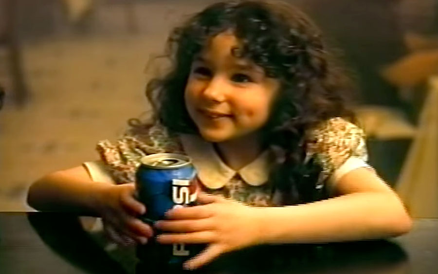 The little girl from those '90s Pepsi commercials has a