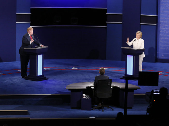 Candidates Hillary Clinton And Donald Trump Hold Third Presidential Debate At The University Of Nevada